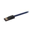 MF Product Jettpower 0047 Metal Başlıklı Örgülü 3A Micro Usb Hızlı Şarj Kablosu 20 cm Mavi resmi