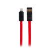 MF Product Jettpower 0048 Metal Başlıklı Örgülü 2.1 A Lightning Hızlı Şarj Kablosu 20 cm Kırmızı resmi