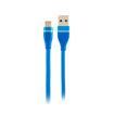 MF Product Jettpower 0059 Metal Başlıklı Örgülü 3 in 1 Hızlı Şarj Kablosu 30 cm Mavi resmi