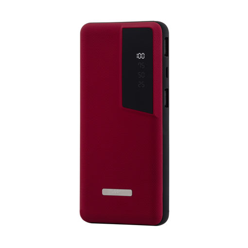 MF Product Jettpower 0143 10000 mAh Led Ekranlı Powerbank Kırmızı resmi