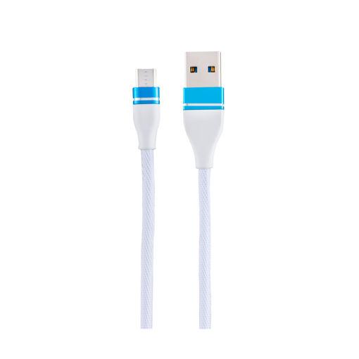 MF Product Jettpower 0051 Metal Başlıklı Örgülü 2.4A Micro Usb Hızlı Şarj Kablosu 1 m Beyaz resmi