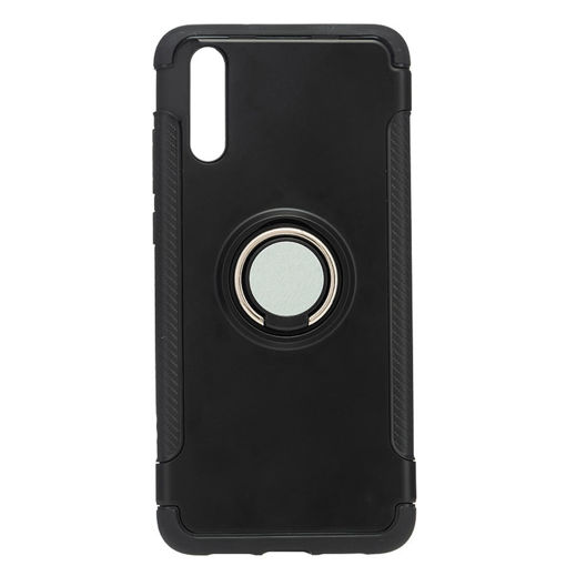MF Product Jettpower 0328 Yüzüklü Telefon Kılıfı Huawei P20 Siyah resmi
