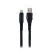 MF Product Jettpower 0025 Yassı 2.4A Type-C Hızlı Şarj Kablosu 1 m Siyah resmi