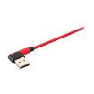 MF Product Jettpower 0061 Silikon L Tipi 2.4A Micro Usb Hızlı Şarj Kablosu 1 m Kırmızı resmi