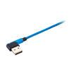 MF Product Jettpower 0061 Silikon L Tipi 2.4A Micro Usb Hızlı Şarj Kablosu 1 m Mavi resmi