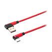 MF Product Jettpower 0063 Silikon L Tipi 2.4A Type-C Hızlı Şarj Kablosu 1 m Kırmızı resmi