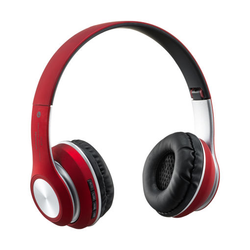 MF Product Acoustic 0126 Mikrofonlu Kulak Üstü Kablosuz Bluetooth Kulaklık Kırmızı resmi