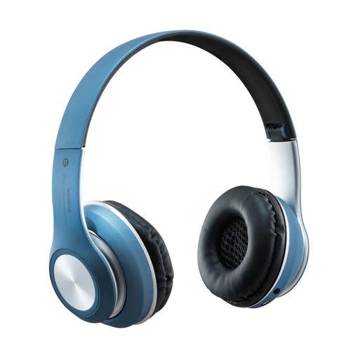 MF Product Acoustic 0126 Mikrofonlu Kulak Üstü Kablosuz Bluetooth Kulaklık Mavi resmi