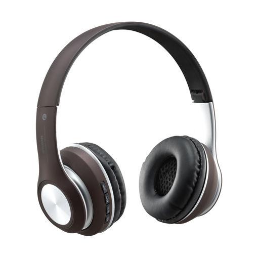 MF Product Acoustic 0126 Mikrofonlu Kulak Üstü Kablosuz Bluetooth Kulaklık Kahverengi resmi
