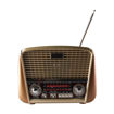MF Product Acoustic 0186 Retro Fenerli Kablosuz Radyolu Bluetooth Hoparlör Kahverengi resmi