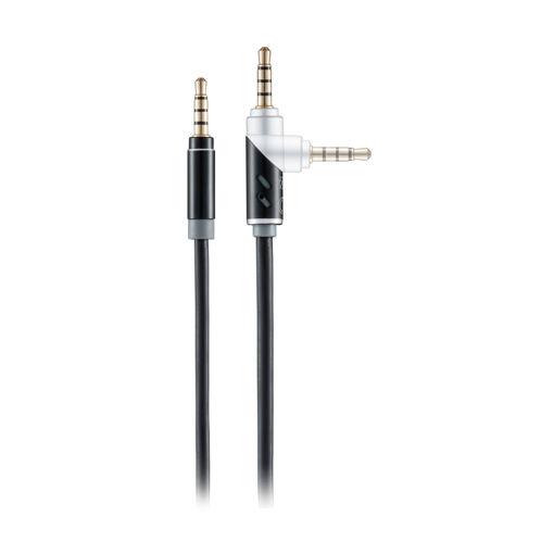 MF Product Acoustic 0209 Dönebilen Uçlu Aux Kablo Siyah resmi