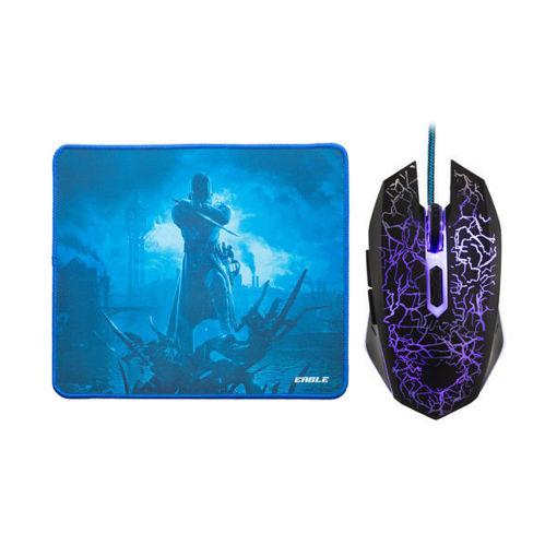 MF Product Strike 0109 Kablolu Rgb Gaming Mouse + Mouse Pad Mavi resmi