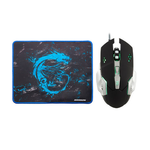 MF Product Strike 0110 Kablolu Rgb Gaming Mouse + Mouse Pad Gri resmi