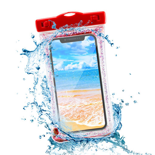 MF Product Jettpower 0243 Su Geçirmez Telefon Kılıfı Kırmızı resmi