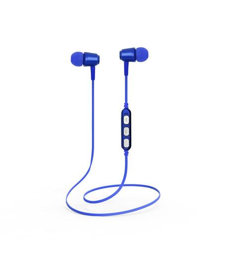 MF Product Acoustic 0130 Mikrofonlu Boyun Askılı Kulak İçi Kablosuz Bluetooth Kulaklık Mavi resmi