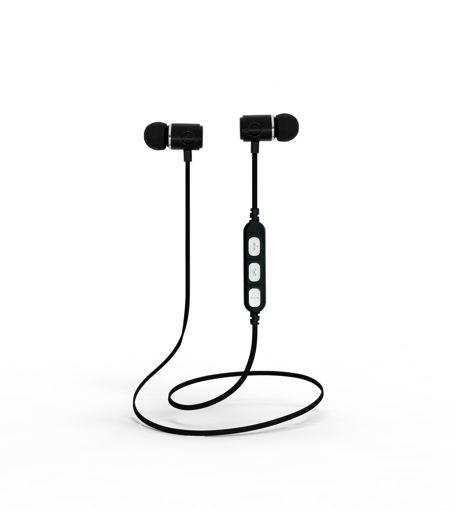 MF Product Acoustic 0132 Mikrofonlu Boyun Askılı Kulak İçi Kablosuz Bluetooth Kulaklık Siyah resmi