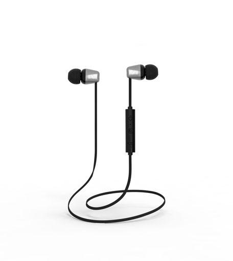 MF Product Acoustic 0133 Mikrofonlu Boyun Askılı Kulak İçi Kablosuz Bluetooth Kulaklık Siyah resmi