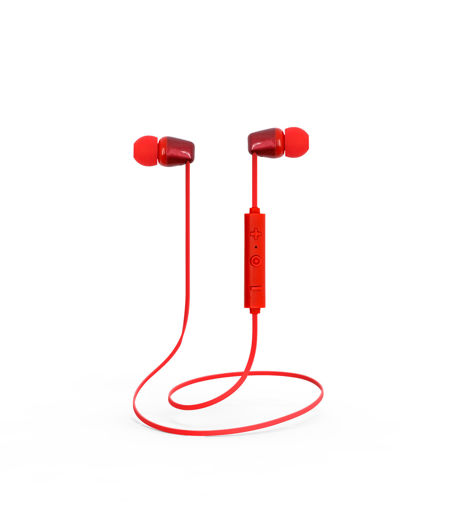 MF Product Acoustic 0133 Mikrofonlu Boyun Askılı Kulak İçi Kablosuz Bluetooth Kulaklık Kırmızı resmi