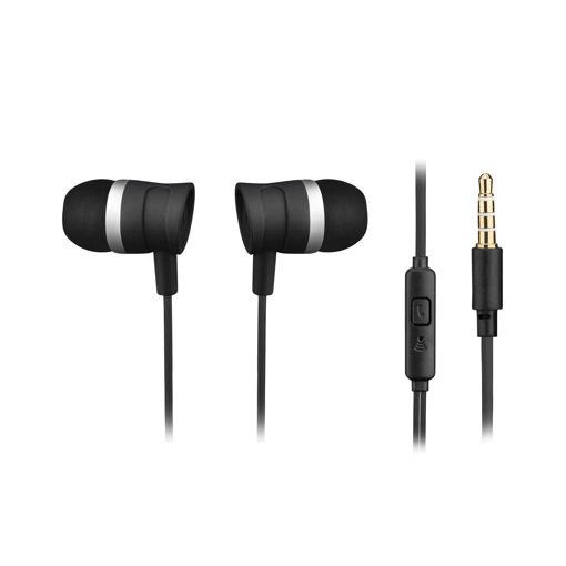 MF Product Acoustic 0087 Mikrofonlu Kablolu Kulak İçi Kulaklık Siyah resmi