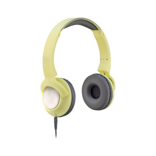 MF Product Acoustic 0107 Mikrofonlu Kablolu Kulak Üstü Kulaklık Sarı resmi