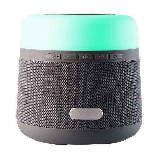 MF Product Acoustic 0371 Işıklı Wireless Charger Kablosuz Bluetooth Hoparlör Gri resmi