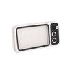 MF Product Acoustic 0517 Retro Mini TV Kablosuz Bluetooth Hoparlör Beyaz resmi