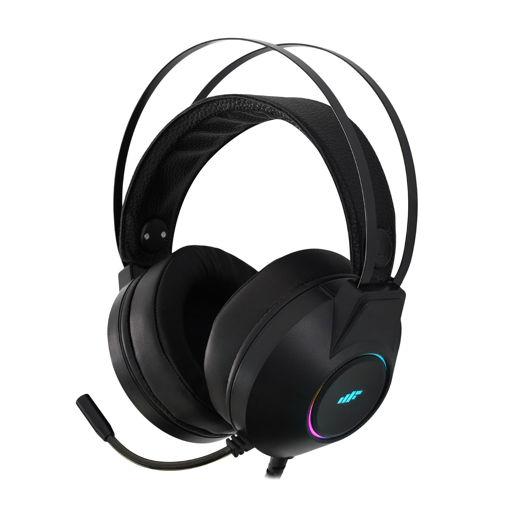 MF Product Strike 0161 Rgb Kablolu Kulak Üstü Oyuncu Kulaklığı 7.1 Usb Siyah resmi