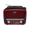 MF Product Acoustic 0186 Retro Fenerli Kablosuz Radyolu Bluetooth Hoparlör Kırmızı resmi