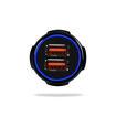 MF Product Jettpower 0529 Araç Şarjı Işıklı QC 3.0 Çift Usb 5V 3.1A Siyah resmi