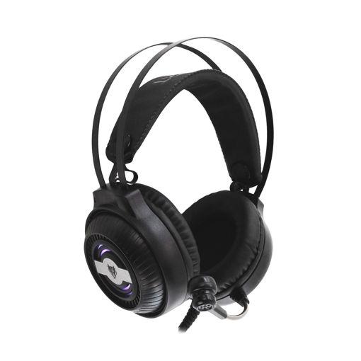 MF Product Strike 0606 RGB Kablolu Kulak Üstü Oyuncu Kulaklığı 7.1 USB Siyah resmi