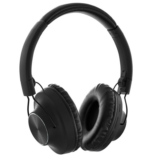 MF Product Acoustic 0129 Mikrofonlu Kulak Üstü Kablosuz Bluetooth Kulaklık Siyah resmi