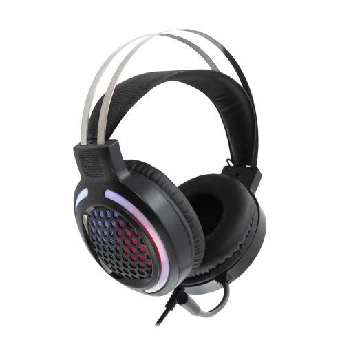 MF Product Strike 0600 RGB Kablolu Kulak Üstü Oyuncu Kulaklığı 7.1 USB Siyah resmi