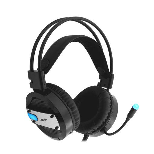 MF Product Strike 0607 RGB Kablolu Kulak Üstü Oyuncu Kulaklığı 7.1 USB Siyah resmi
