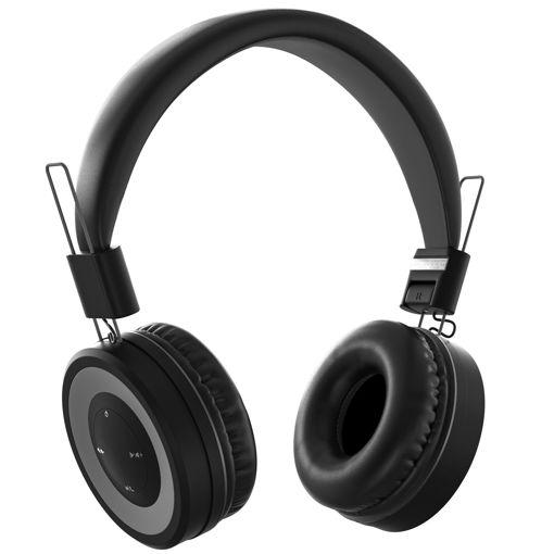 MF Product Acoustic 0136 Mikrofonlu Kulak Üstü Kablosuz Bluetooth Kulaklık Siyah resmi