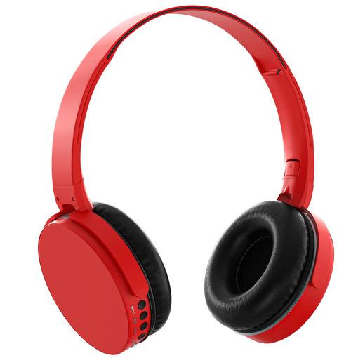 MF Product Acoustic 0235 Kablosuz Kulak Üstü Bluetooth Kulaklık Kırmızı resmi