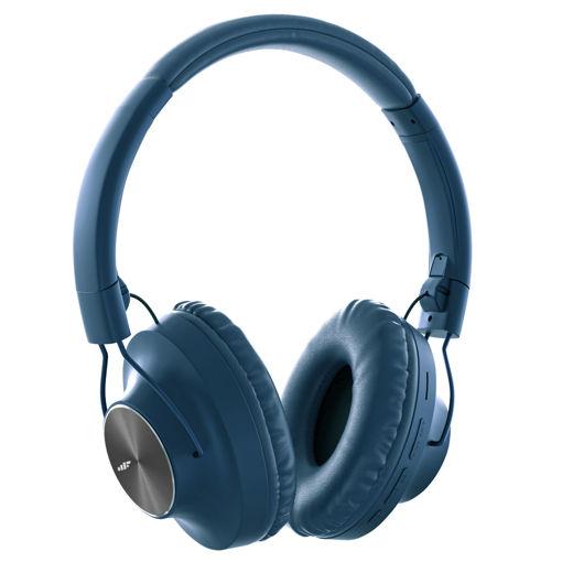 MF Product Acoustic 0129 Mikrofonlu Kulak Üstü Kablosuz Bluetooth Kulaklık Açık Mavi resmi