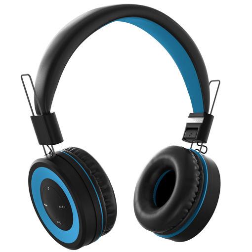 MF Product Acoustic 0136 Mikrofonlu Kulak Üstü Kablosuz Bluetooth Kulaklık Mavi resmi