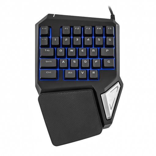 MF Product Strike 0585 Kablolu Tek El Mekanik Hisli Mini Oyun Klavyesi Siyah resmi