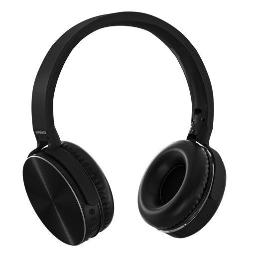 MF Product Acoustic 0128 Mikrofonlu Kulak Üstü Kablosuz Bluetooth Kulaklık Siyah resmi