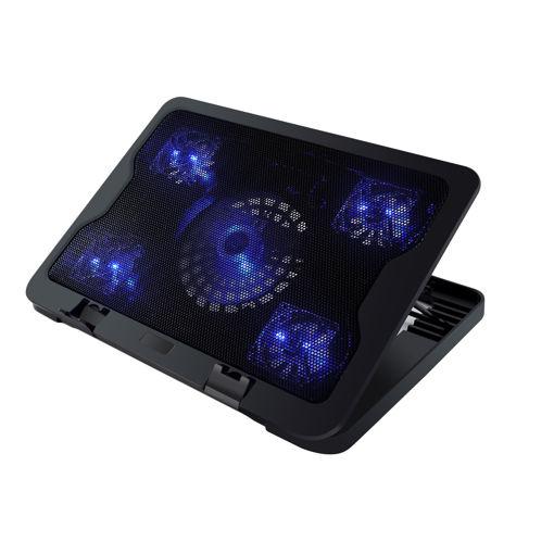 MF Product Strike 0557 5 Fanlı Gaming Laptop Soğutucu Siyah resmi