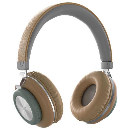 MF Product Acoustic 0125 Mikrofonlu Kulak Üstü Kablosuz Bluetooth Kulaklık Kahverengi resmi