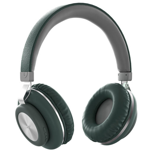 MF Product Acoustic 0125 Mikrofonlu Kulak Üstü Kablosuz Bluetooth Kulaklık Yeşil resmi