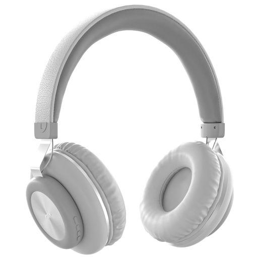 MF Product Acoustic 0125 Mikrofonlu Kulak Üstü Kablosuz Bluetooth Kulaklık Beyaz resmi
