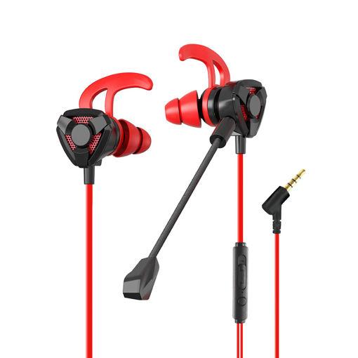 MF Product Strike 0645 Mikrofonlu Kablolu Kulak İçi Oyuncu Kulaklığı Kırmızı resmi