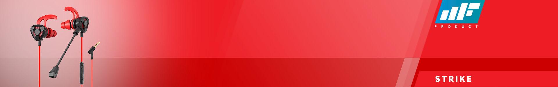 MF Product Strike 0645 Mikrofonlu Kablolu Kulak İçi Oyuncu Kulaklığı Kırmızı, senin için yola çıkmaya hazır!