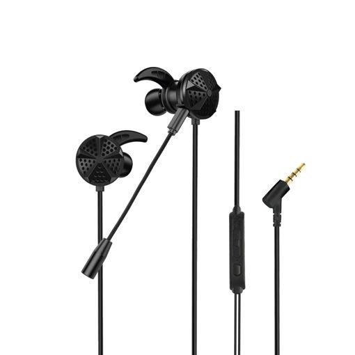 MF Product Strike 0637 Mikrofonlu Kablolu Kulak İçi Oyuncu Kulaklığı Siyah resmi