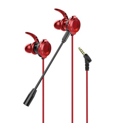 MF Product Strike 0638 Mikrofonlu Kablolu Kulak İçi Oyuncu Kulaklığı Kırmızı resmi