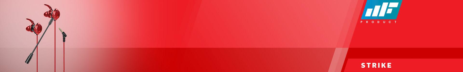 MF Product Strike 0638 Mikrofonlu Kablolu Kulak İçi Oyuncu Kulaklığı Kırmızı, hemen al hemen gelsin!