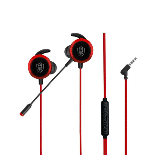 MF Product Strike 0643 Mikrofonlu Kablolu Kulak İçi Oyuncu Kulaklığı Kırmızı resmi