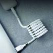 MF Product Jettpower 0597 Mıknatıslı Sarma Lightning Şarj Kablosu 1 m Beyaz resmi